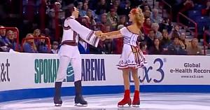 Dans popular românesc executat superb pe gheaţă de doi canadieni
