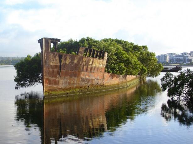11. Nava veche de 102 ani abandonată în Sydney, Australia.