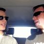 tatal si fiul in masina