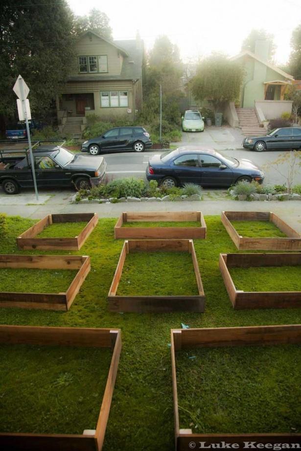Totul a început cu o serie de cutii de lemn recuperate dintr-un hambar. Poate părea ciudat să înşiri pe peluză nişte cutii goale, dar cum nimic nu mai este neobişnuit în America, proprietarul s-a gândit că aceste cutii ar putea avea totuşi o întrebuinţare pe spaţiul şi aşa mic din faţa casei.