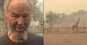 Un bărbat de 77 de ani refuză să lase animalele să piară în incendiu, apoi face imposibilul şi sfidează flăcările
