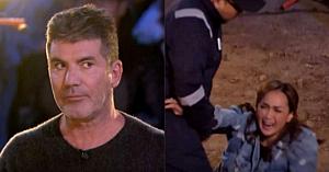 În momentul în care soţia acestui concurent s-a prăbuşit la pământ, reacţia lui Simon Cowell a uimit pe toată lumea