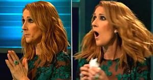 Céline nu-şi poate reţine uimirea când aude melodia ei preferată. Dar priviţi cine se află în faţa ei pe scenă