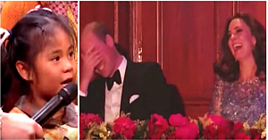 O fetiţă îl roagă pe Prinţul William să galopeze ca un cal. Imediat publicul izbucneşte în hohote de râs