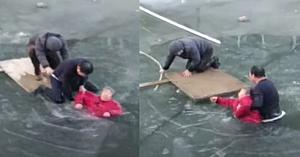 Un om vede ceva mişcându-se în râul îngheţat. Îl trec fiorii când îşi dă seama ce trebuie să facă