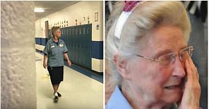 În vârstă de 77 de ani, îngrijitoarea şcolii are un secret. Personalul află adevărul şi o confruntă în faţa tuturor