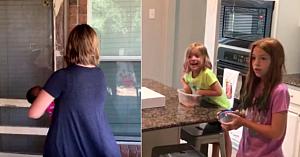 Aceşti părinţi îşi surprind fiicele cu adopţia unei mici surioare, dar priviţi reacţia fetiţei mai mari
