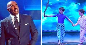 Când i-au văzut ce pot face la doar 6 ani, publicul şi Steve Harvey nu şi-au putut stăpâni reacţiile de uimire