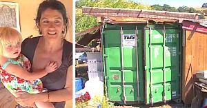 O mamă se mută cu fiica ei într-un container de marfă, după ce aceasta l-a transformat în locuinţă cu propriile sale mâini