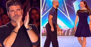 """Audiţia de """"dans"""" ia o turnură neaşteptată, transformându-se într-o reprezentaţie aplaudată de către Simon la scenă deschisă"""