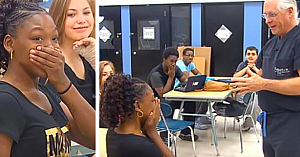 """Doctorul întrerupe ora de clasă şi merge direct către o elevă - când ea aude numele de """"Robert"""", rămâne fără cuvinte"""
