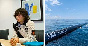 În 2012 un puşti a venit cu o idee genială de a curăţa mările şi oceanele de plasticul acumulat - 6 ani mai târziu visul devine realitate