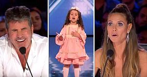 O fetiţă adorabilă de 5 ani fură inimile celor din juriu înainte să ridice sala în picioare cu reprezentaţia ei