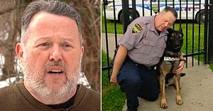 Ofiţerul pensionat spunea că nu poate să păstreze câinele K-9, dar când află care va fi soarta patrupedului ia o decizie uimitoare